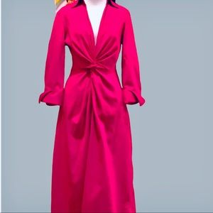 Twist front Kennith Cole dress in bright pink
